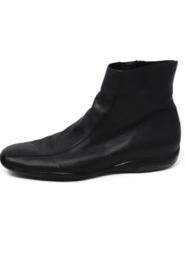 Prada Sport Black Leather Booties 2