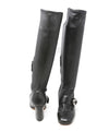 Prada Black Leather Button Strap Boots 3