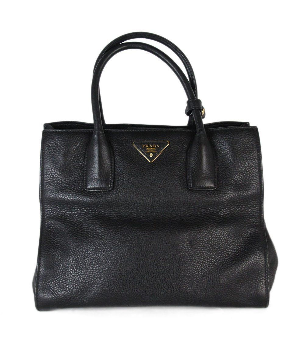 820023ea864c09 Tote Prada Black Leather W/Strap W/Dust Cover Handbag - Michael's ...