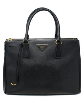 Prada Black Leather Large Galleria Handbag 1