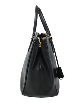 Prada Black Leather Large Galleria Handbag 2