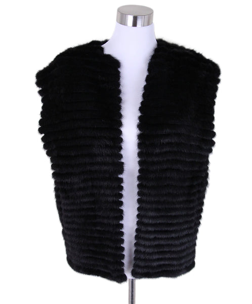 Prada Black Mink Wool Knit Vest 1