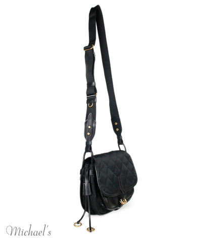 Prada Black Nylon Leather Handbag