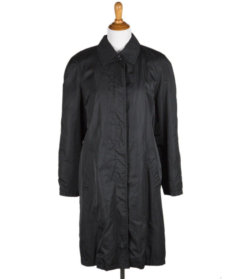 Prada Black Nylon Raincoat Sz L - Michael's Consignment NYC  - 1