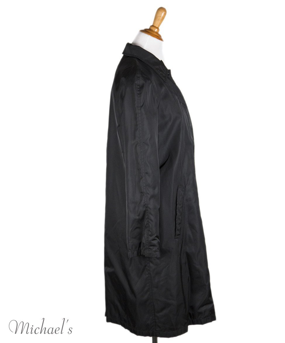 Prada Black Nylon Raincoat Sz L - Michael's Consignment NYC  - 2