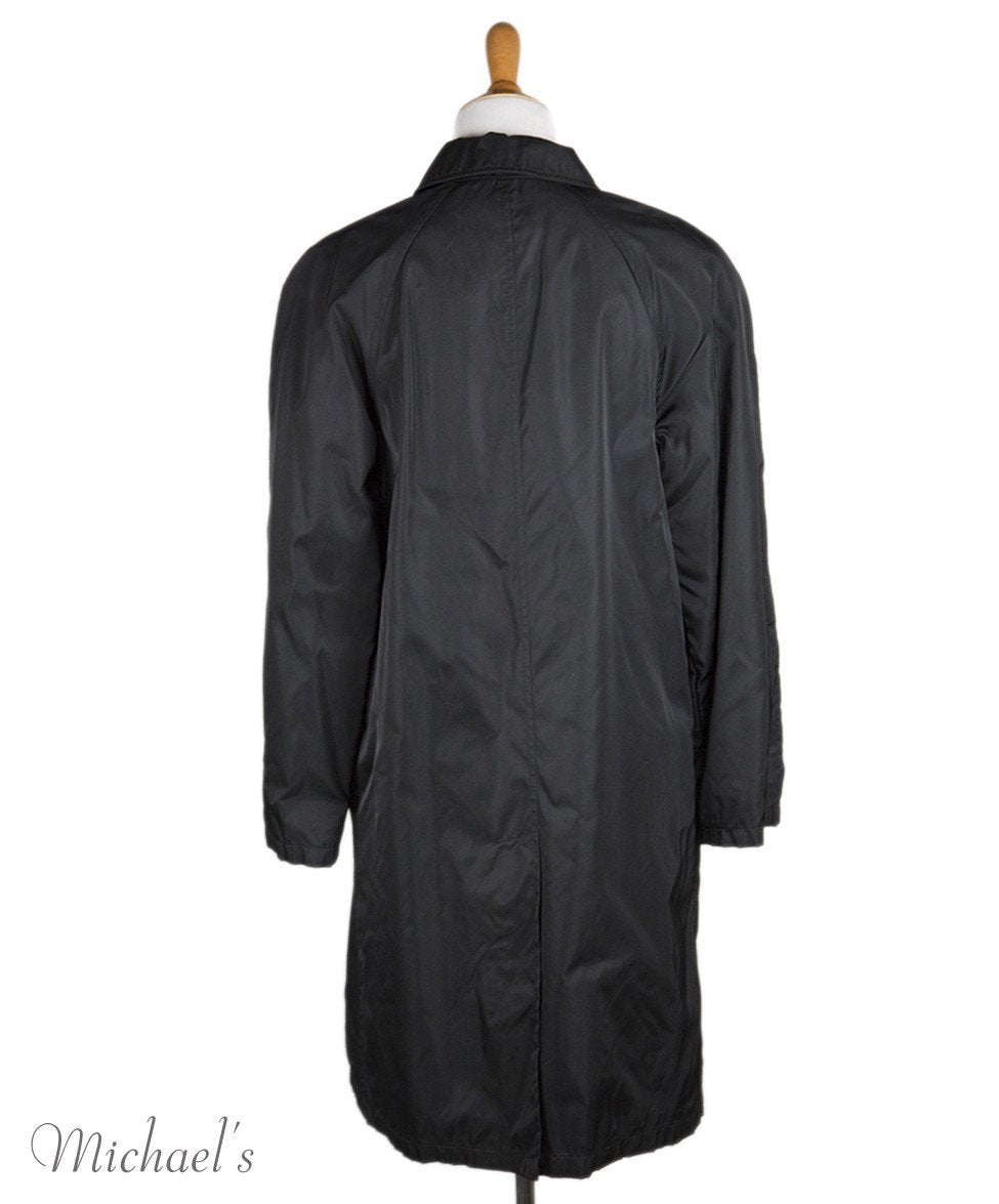 Prada Black Nylon Raincoat Sz L - Michael's Consignment NYC  - 3