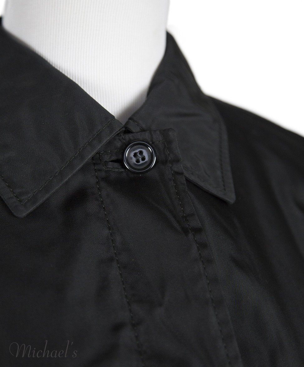 Prada Black Nylon Raincoat Sz L - Michael's Consignment NYC  - 4
