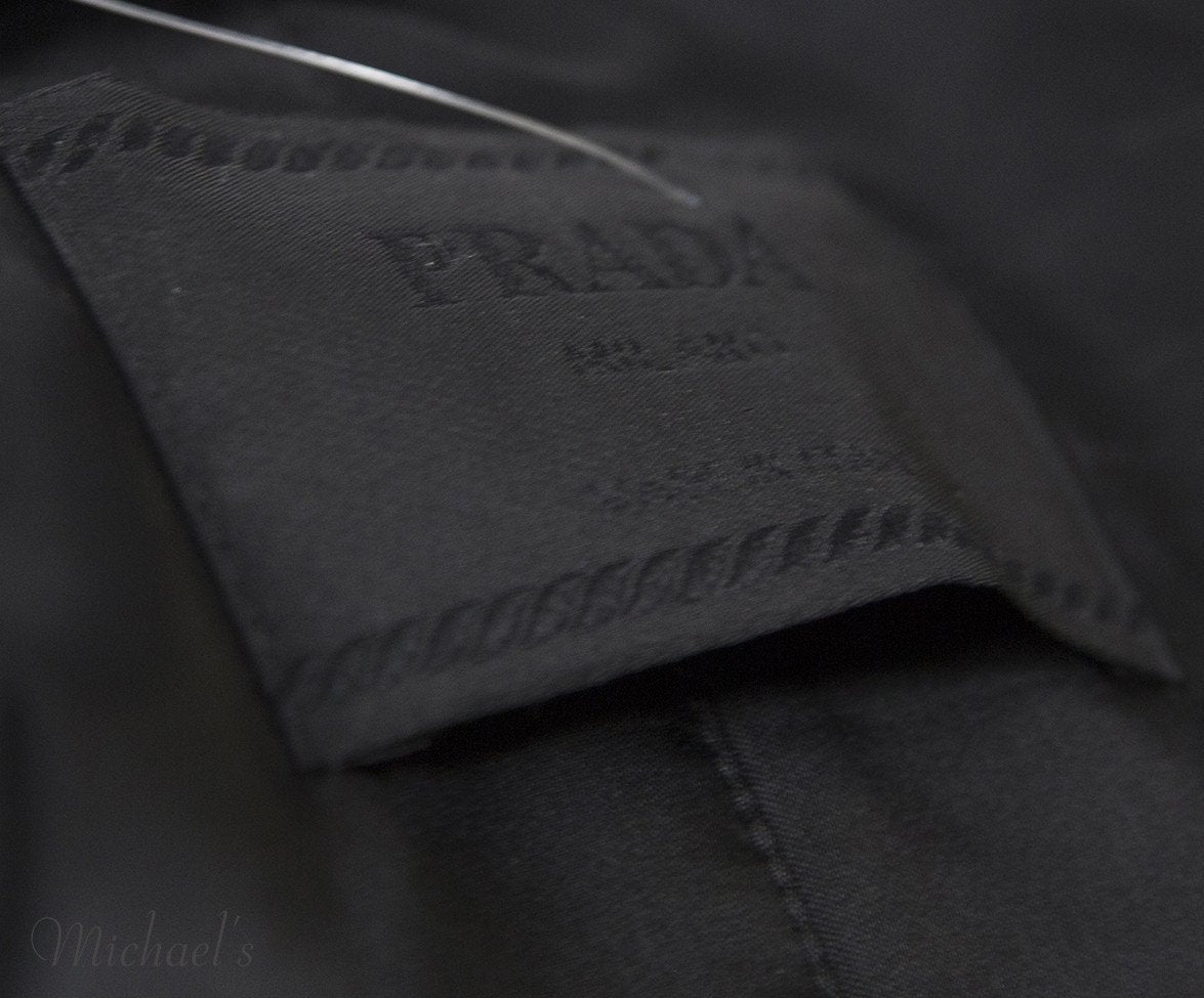 Prada Black Nylon Raincoat Sz L - Michael's Consignment NYC  - 5