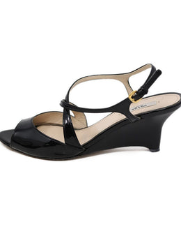 Sandals Prada Shoe Black Patent Leather Wedge Shoes 2