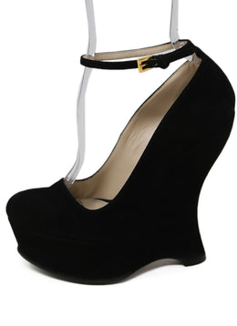 Prada Black Suede Wedges 2