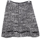 Prada Black White Wool Skirt 1
