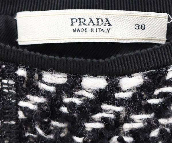 Prada Black White Wool Skirt 3