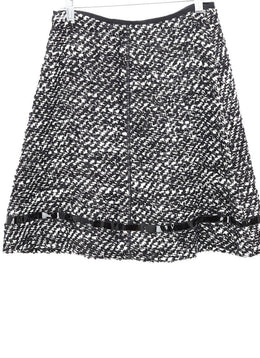 Prada Black White Wool Skirt 2