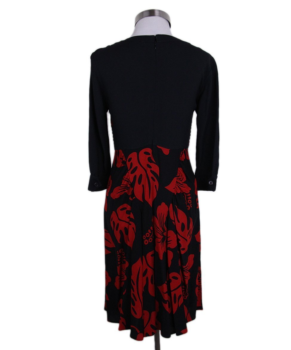 Prada Black red Print Rhinestones dress 3