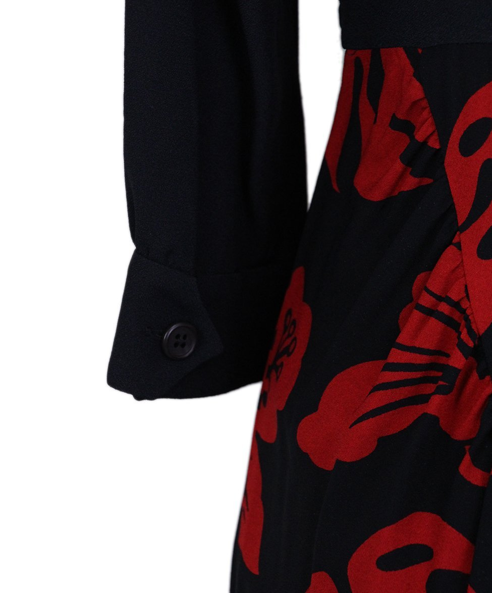 Prada Black red Print Rhinestones dress 5