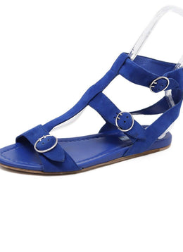 Sandals Prada Shoe Blue Suede Shoes