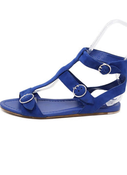 Sandals Prada Shoe Blue Suede Shoes 1