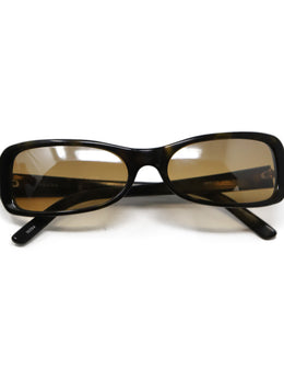 Prada Brown Black Lucite W/Case Sunglasses 1