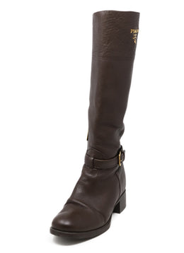 Prada Brown Knee High Boots 1