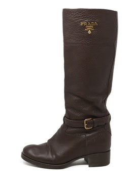 Prada Brown Knee High Boots 2