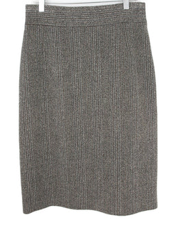 Prada Brown Tweed Skirt 1