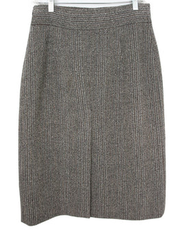 Prada Brown Tweed Skirt 2