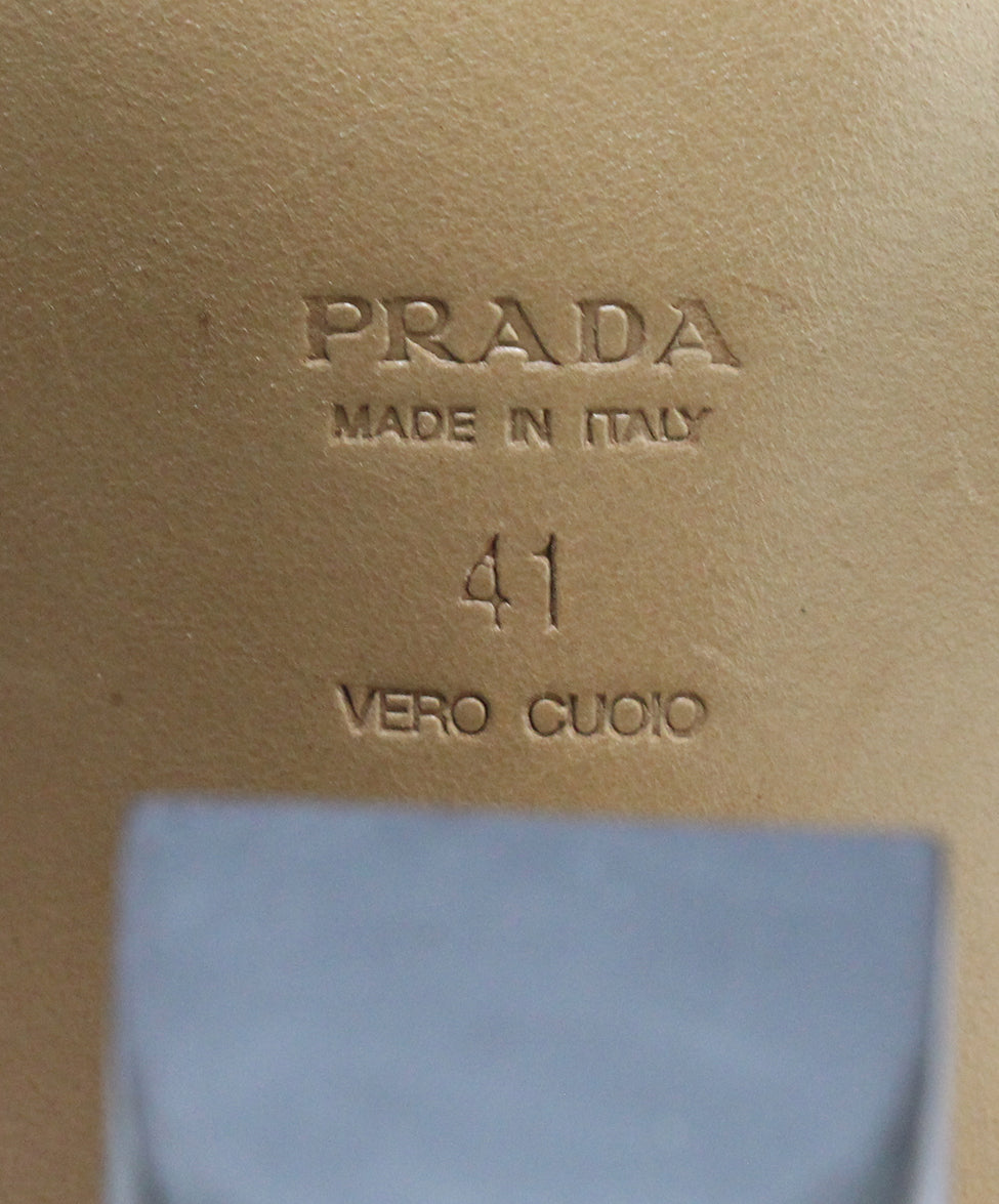 Prada Brown Leather Heels 6