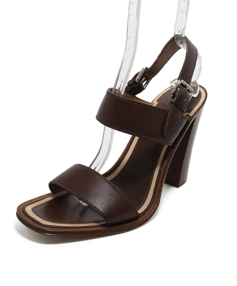 Prada Brown Leather Heels 1