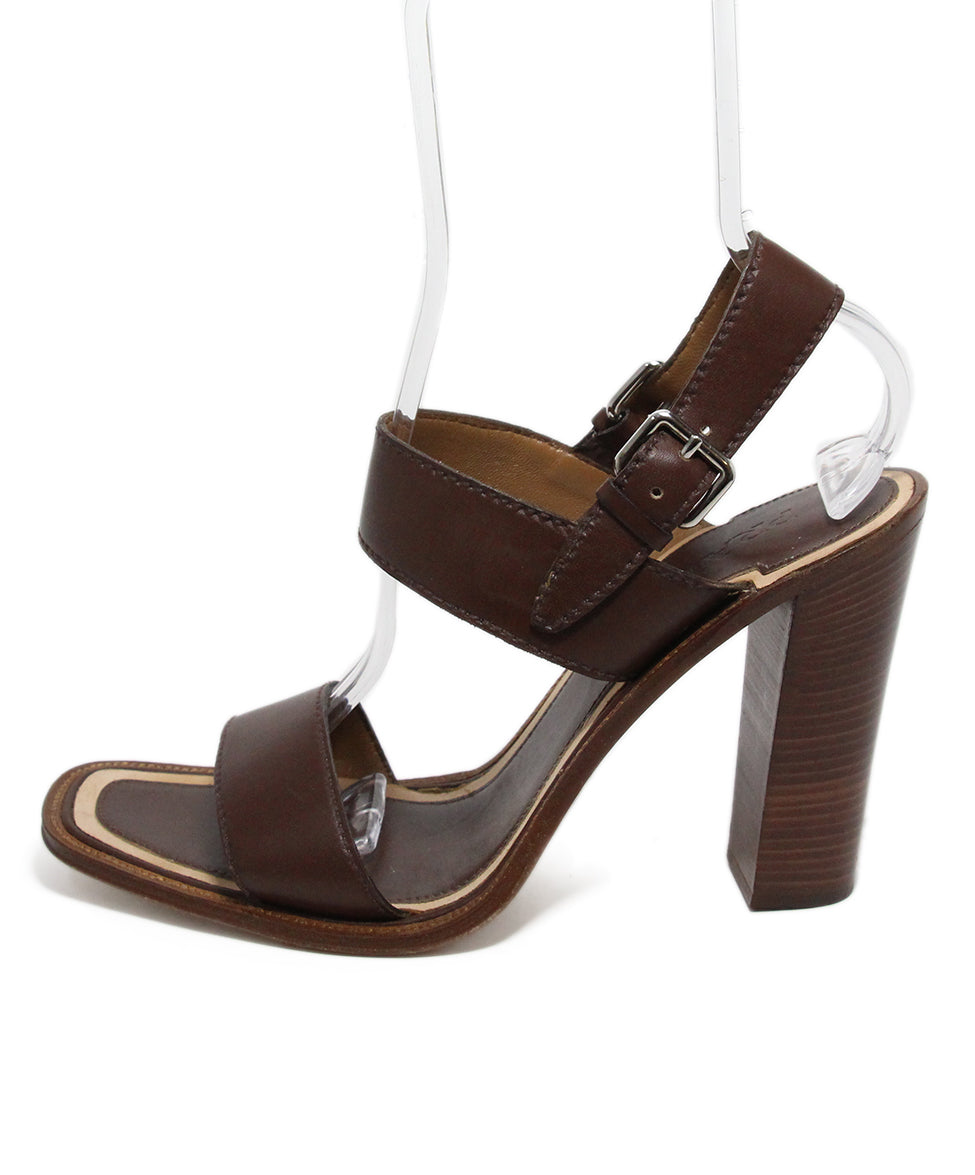 Prada Brown Leather Heels 2