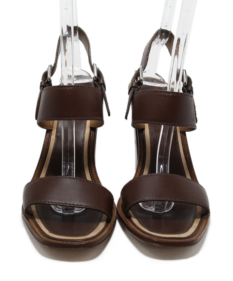 Prada Brown Leather Heels 4