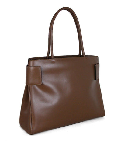 Prada Brown Leather Tote 1