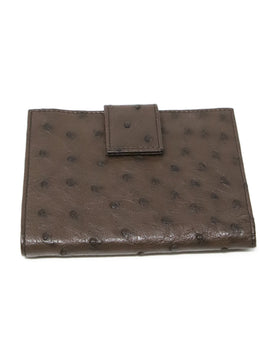 Wallet Prada Brown Ostrich Leather Goods 1