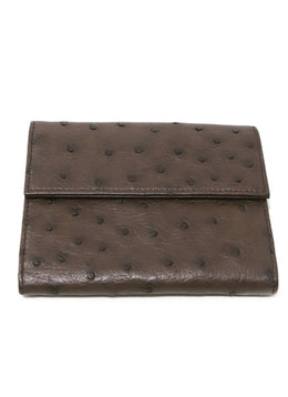 Wallet Prada Brown Ostrich Leather Goods 2