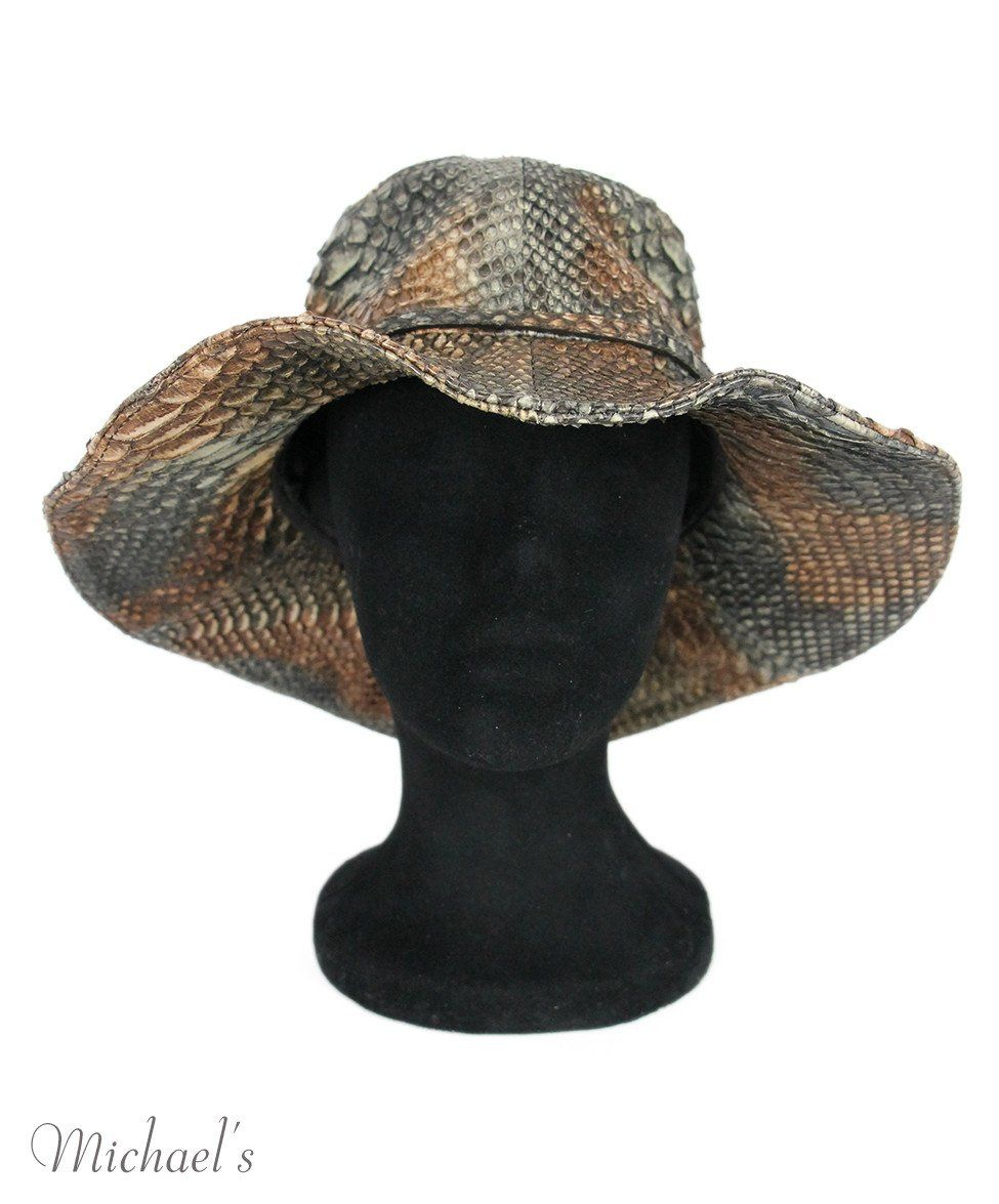 Prada Brown Black Skin Hat