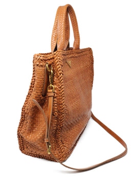 Prada Brown Woven Leather Handbag 2