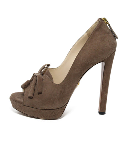 Prada Brown suede heels 1