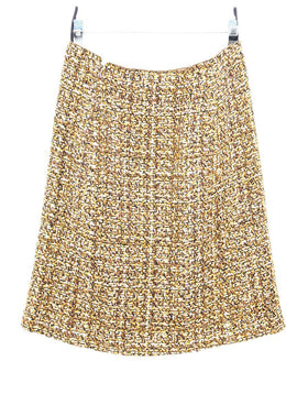 Prada Brown Yellow Wool Skirt 2