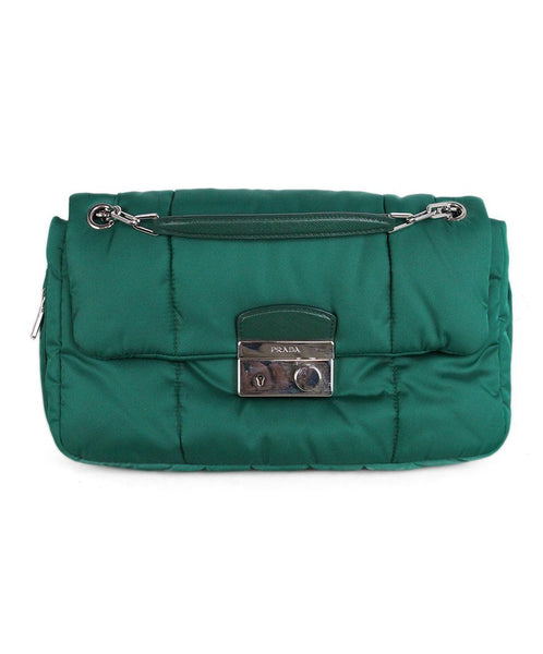 Prada Green Nylon Shoulder Bag 1