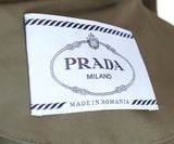 Prada Olive Green Nylon Trenchcoat 4