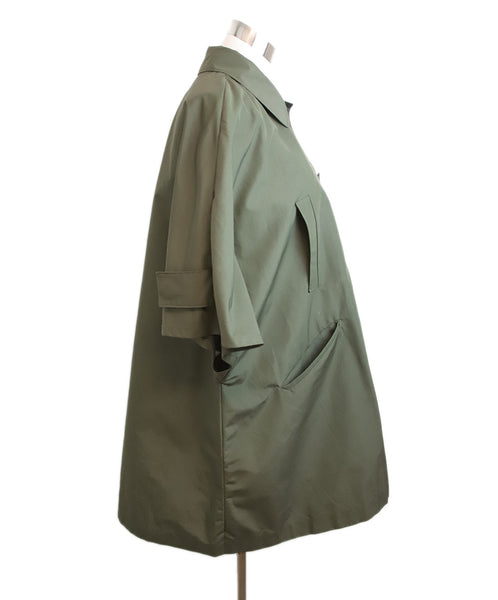 Prada Olive Green Nylon Trenchcoat 2