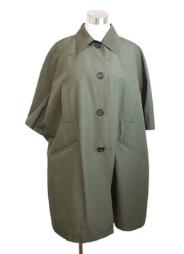 Prada Olive Green Nylon Trenchcoat 1