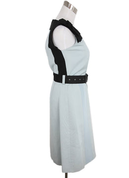 Prada Grey Black Cotton Acrylic W/Belt Dress 2