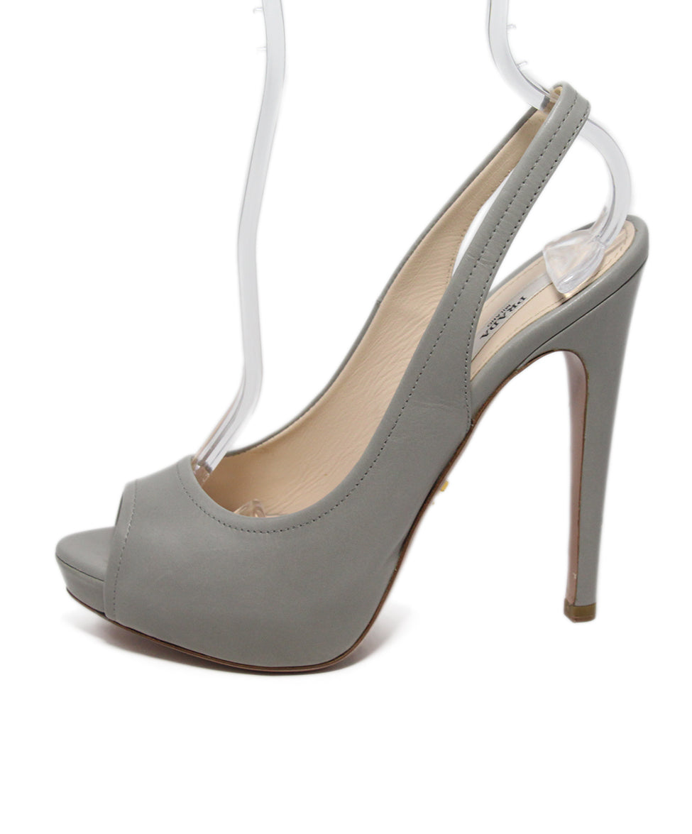 Prada Grey Leather Heels 2
