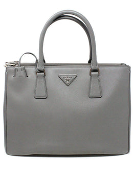 Prada Grey Leather Large Galleria Handbag 1