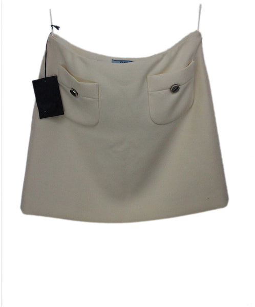Prada Ivory Wool Mini Skirt 2