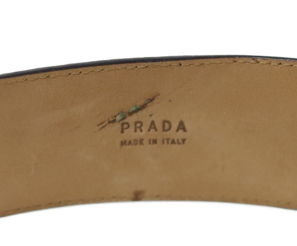 Prada Mauve Alligator Lizard Belt