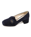 Prada Navy Heeled Loafers 2