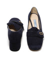 Prada Navy Heeled Loafers 3