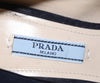 Prada Navy Heeled Loafers 6