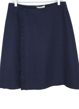Prada Navy Wool Wrap Skirt 1